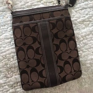Chocolate brown COACH crossbody bag